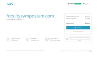 facultysymposium.com screenshot