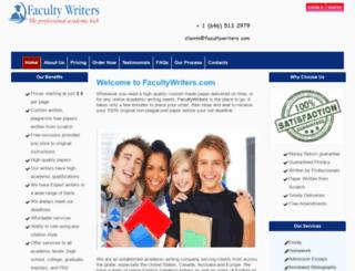 facultywriters.com screenshot