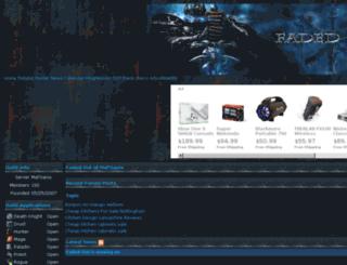 fadedout.guildomatic.com screenshot