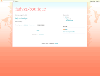 fadyza-boutique.blogspot.com screenshot