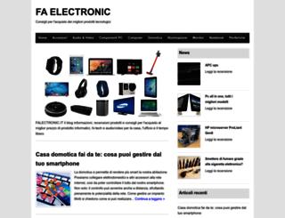 faelectronic.it screenshot