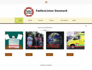 faelleslisten.dk screenshot