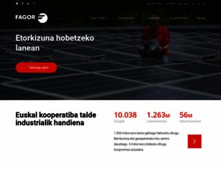 fagor.com screenshot