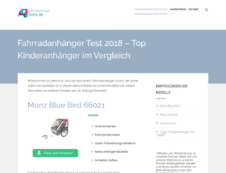 fahrradanhaengertests.de screenshot