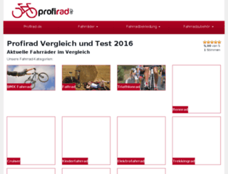 fahrradreisen.profirad.de screenshot