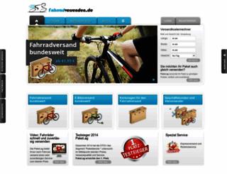 fahrradversenden.de screenshot