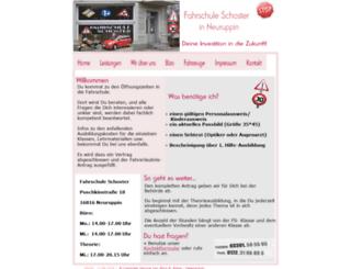 fahrschuleschoster.de screenshot