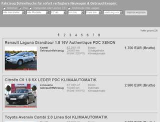 fahrzeugsuche.schulz-gruppe.com screenshot
