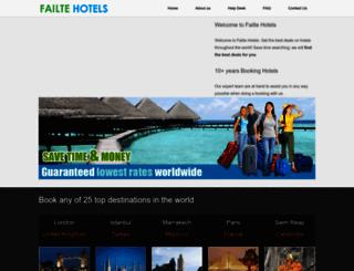 failtehotels.ie screenshot