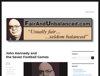 fairandunbalanced.com screenshot