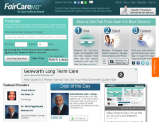 faircaremd.com screenshot