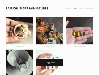 fairchildartminiatures.com screenshot