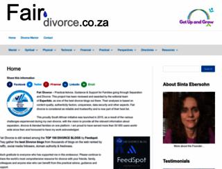 fairdivorce.co.za screenshot