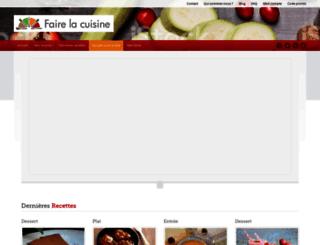 faire-la-cuisine.fr screenshot