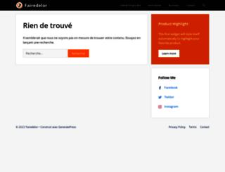 fairedelor.com screenshot