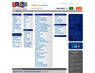 fairfax-va.geebo.com screenshot