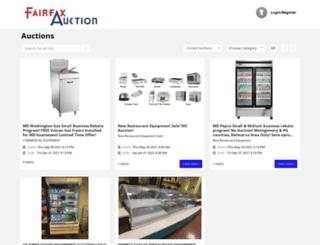 fairfaxauction.net screenshot