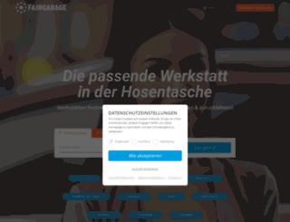 fairgarage.de screenshot