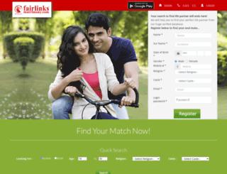 fairlinksmatrimony.com screenshot