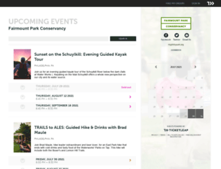 fairmountpark.ticketleap.com screenshot