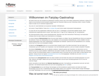 fairplay-gastroshop.de screenshot