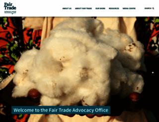 fairtrade-advocacy.org screenshot