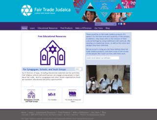 fairtradejudaica.org screenshot
