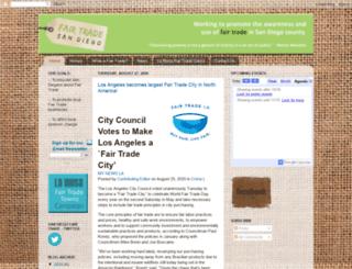 fairtradesd.blogspot.com screenshot