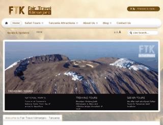 fairtravelkilimanjaro.com screenshot