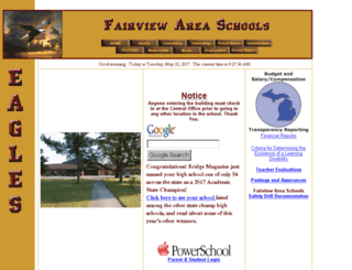 fairview.k12.mi.us screenshot