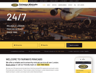 fairwaysminicabs.co.uk screenshot