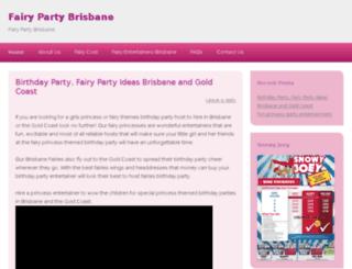 fairypartybrisbane.com.au screenshot