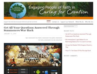 faithandenvironmentnetwork.org screenshot