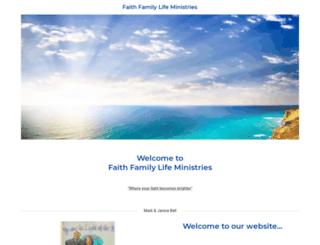 faithfamilylifeministries.com screenshot