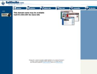 faithsite.com screenshot
