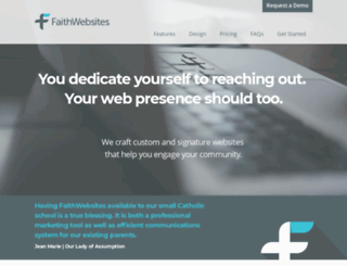 faithwebsites.net screenshot