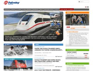 faiveley.com screenshot