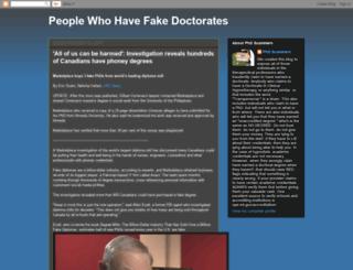 fakedoctorate.blogspot.co.uk screenshot
