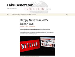 fakegenerator.wordpress.com screenshot