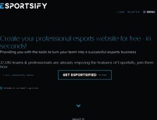 fakesower.esportsify.com screenshot