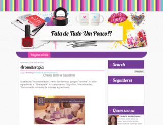 falatudoumpouco.blogspot.com screenshot