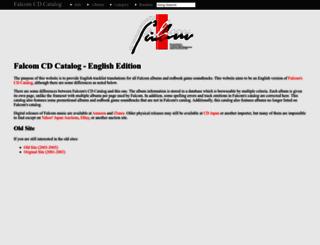 falcomcdcatalog.jeremyevans.net screenshot