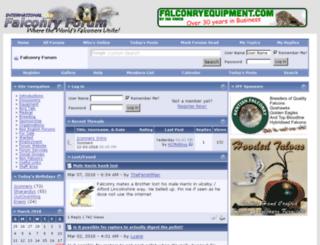 falconryforum.co.uk screenshot