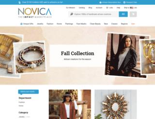 fall.novica.com screenshot