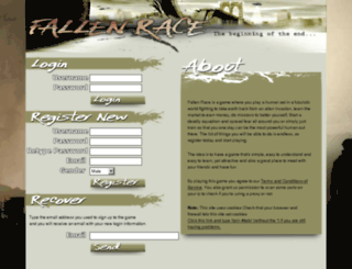 fallenrace.com screenshot