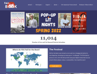fallforthebook.org screenshot