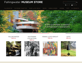 fallingwatermuseumstore.org screenshot