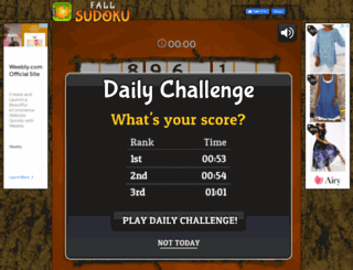 fallsudoku.com screenshot