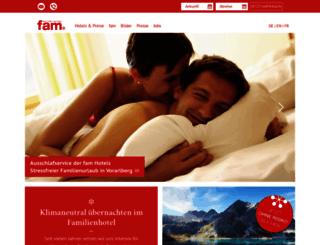 fam-hotels.com screenshot