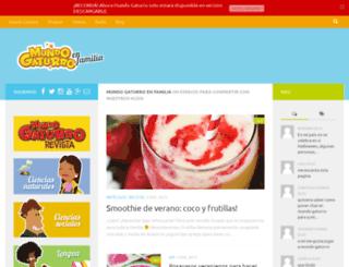 familia.mundogaturro.com screenshot